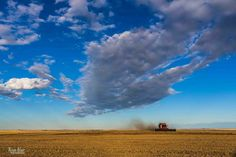 Big Albert Sky during Harvest at the Farm  by RyanBlairPhotography