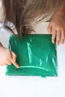 Letter Formation with Paint- put tempera paint in a baggie and use it to practice tracing letters.A lot of fun and no mess!