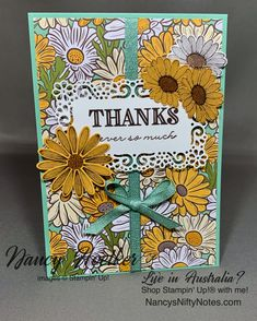 #nancysniftynotes Card Kit, More Fun, Card Stock, Stampin Up, You Got This, Daisy, Bloom, Thankful, Paper Crafts