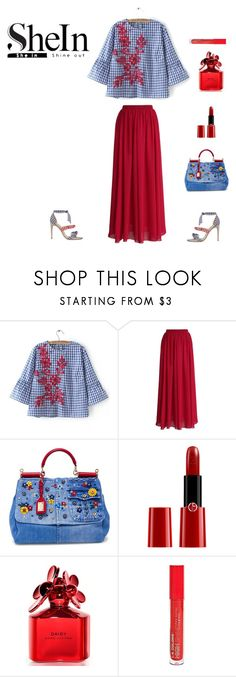 """""""Untitled #170"""" by brandikw on Polyvore featuring Alexandre Birman, Chicwish, Dolce&Gabbana, Giorgio Armani, Marc Jacobs and L.A. Colors"""