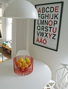 Typography & Modern Classics in the Dining Room