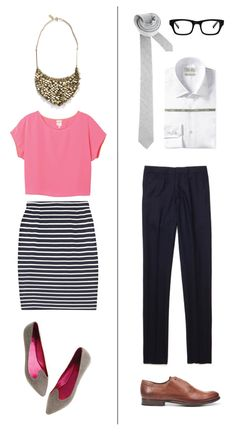 gold sequins + pop of pink + navy-white stripes