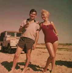 Very rare private photo of Marilyn Monroe with Norman Rosten in 1957