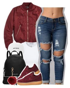 """Cocaine for breakfast"" by queen-tiller ❤ liked on Polyvore featuring Topshop, Estradeur, MICHAEL Michael Kors and NIKE"