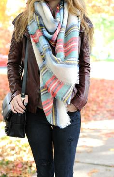 Aerie Blanket Scarf | Oh So Glam | A Personal Style & Beauty Blog by Christina DeFilippo
