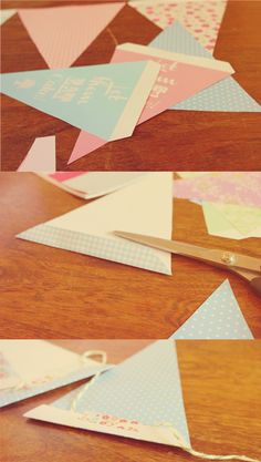 Floral Pennant Bunting Download/printable with a cake theme. DIY