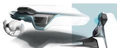 Peugeot 208 - Interior Design Sketch - Car Body Design