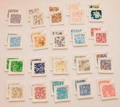 Felt Fabric Memory Game Flowers. via Etsy (except I'm making it myself!)