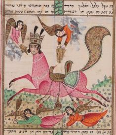 Al Buraq is an angelic being with the body of a horse, the head of a woman, and a peacock's tail, who carried the Prophet Muhammad, on the Miraj, the Night Journey through the Seven Heavens to Jerusalem and got him back in the same night.