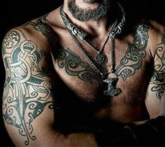 Nordic tattoo.One of the most awesome viking/norse style tattoos ever made!