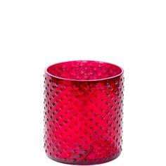 DELIGHT mécsestartó 8cm piros üveg