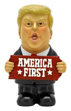 America First - Donald Trump Figurine/Gnome - Stands - Make America Great - Keep America Great - - President Of The United States State Crafts, Print Box, Painted Boxes, Gnome Garden, Lawn Care, Gnomes, Sale Items, Fathers Day Gifts, Donald Trump