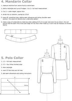 drafting collars mandarin collar