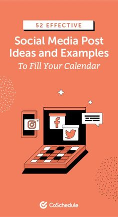 52 Effective Social Media Post Ideas and Examples to Fill Your Calendar Content Marketing Strategy, Marketing Tools, Social Media Marketing, Marketing Calendar, Social Media Calendar, Fill, Ideas, Thoughts