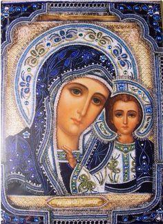 """Madonna. Icono ortodoxo ruso """"Madre de Dios"""" de Kasan"""