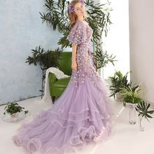 Coeur Wedding - Floral Mermaid Evening Gown