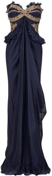 Temperley London Blue Ailean Dress  As if I need to emphasize my hips, but still...