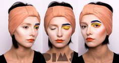 Bright creative color make-up Look created by Diana Ionescu, makeup artist and trainer @ Diana Ionescu Makeup Studio, Bucharest based Make-up School  www.dimakeupstudio.ro https://www.facebook.com/dimakeupstudio/
