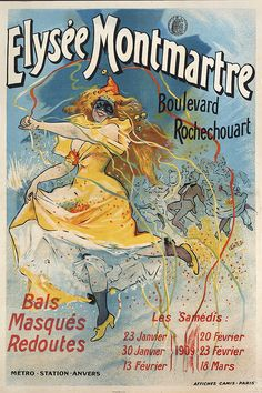 Vintage French Posters, Vintage Prints, French Vintage, Folies Bergeres, Art Nouveau Poster, Unique Wall Art, French Art, Paris, Poster Wall