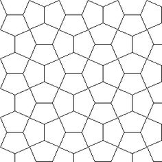 Shapes that tessellate for tissue paper canvas