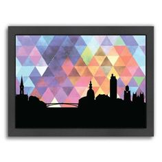 Americanflat PaperFinch Designs Nantes Triangle by Amy Braswell Framed Graphic Art Size: