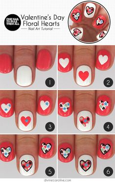 Hearts and Flowers: Valentine's Day Nail Art | Divine Caroline