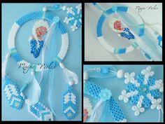 Frozen dreamcatcher hama perler beads - Original design by Magic-perles