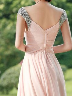 Long prom dress Pink prom dress / long bridesmaid by dressestime