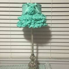 Created this lampshade out of crepe fabric for Sasha's room