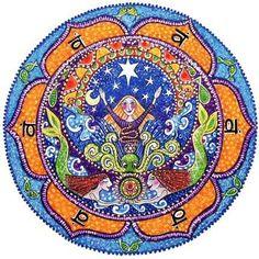 2nd Chakra Mandala Art Print  Swadhistan  by LindyLonghurst, $18.00