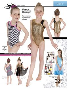 Jalie 3354 - Asymmetrical Gymnastics Leotard - Pattern Cover