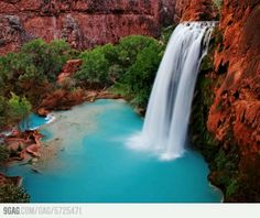 In America! I need to go see this waterfall in the Grand Canyon!