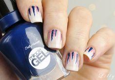 Waterfall Nails Tutorial mit Sally Hansen Miracle Gel Nagellacken