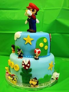 mario bros...i want this cake for my birthday. (:
