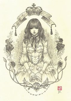 Annabella, an art print by Jasmin Darnell - INPRNT Art And Illustration, Drawing Sketches, Art Drawings, Pencil Drawings, Tattoo Sketch, Character Art, Character Design, Goth Art, Pics Art