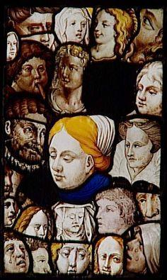 Réunion des Musées Nationaux-Grand Palais - Musée d'Ecouen, vitraux - Panneau composite. Ec.155. Fin XV°, début XVI°s.