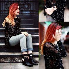 I am in love with everything. Her hair and her outfit. It's perfect. I wanna look like this.