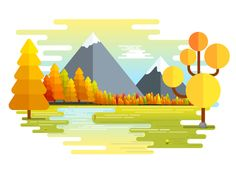 Another Nature Landscape by Hemanta #Design Popular #Dribbble #shots
