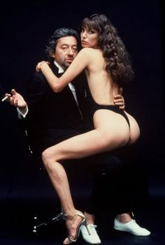 Jane Birkin & Serge Gainsbourg by Helmut Newton