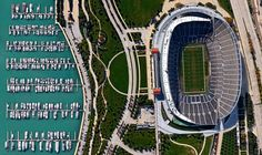 11/17/2014 Soldier Field Chicago, Illinois, USA 41°51′45″N87°37′0″W  The Chicago Bears won their first home game at Soldier Field last night, beating the Minnesota Vikings 21-13. The stadium, located on Lake Michigan, is the third-smallest in the NFL with a seating capacity of 61,500.
