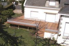 Terrasse Bois Suspendue Sur Pilotis Et Balcons Bois à Angers - Agrandir une terrasse surelevee