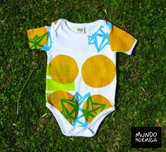 Body en reeb de algodón en estampa dode colores. Talles 3 / 6 / 9 / 12 meses.