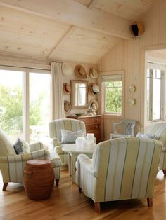 I'd love a sitting room in the front of the house for grown ups to chat...if we ever have living room again I'll do this in the front room and make the family room a big sofa area.