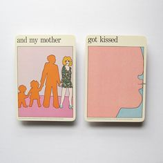 Mother Got Kissed  Vintage MOMA Art Cards  Mothers by LastCentury
