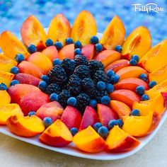 A little slice of heaven. mmmm peaches. (created by Fully Raw Kristina)