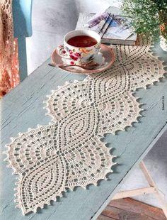 Crochet Table Runner Pattern, Crochet Bedspread Pattern, Crochet Edging Patterns, Crochet Bikini Pattern, Crochet Lace Edging, Crochet Leaves, Embroidery Flowers Pattern, Crochet Tablecloth, Filet Crochet