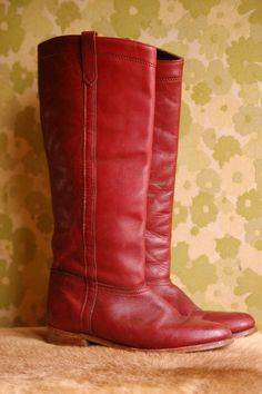 red boots. Especially if I end up having a major climate change.