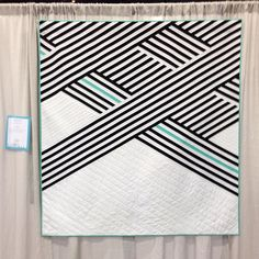 "Cabana quilt designed, pieced and quilted by Sheri Cifaldi-Morrill | Whole Circle Studio. Pattern available soon. Cabana exhibited in ""Minimalism"" category at QuiltCon 2017 in Savannah Georgia and selected for ""Best of QuiltCon 2017"" international traveling show."