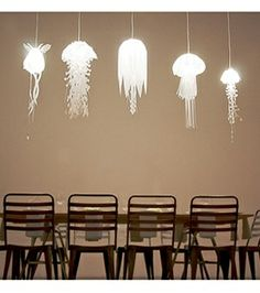 jellyfish lamps....oh my  goodness!!!! I love this!!!