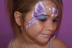 Honeypot Facepainting || purple butterfly how pretty